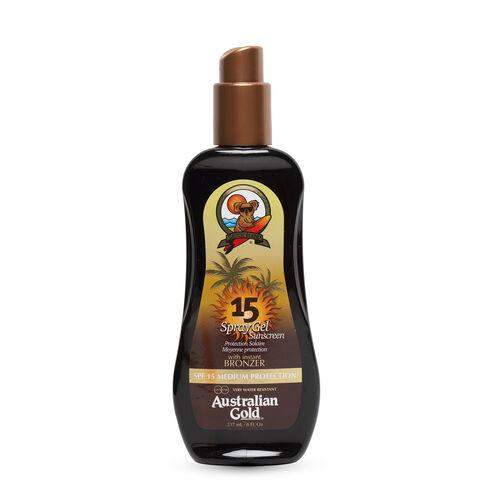 AUSTRALIAN GOLD- SPF 15 Spray Gel W- Bronzer 237ml