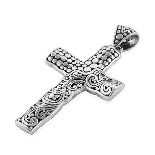 Royal Bali Collectin Sterling Silver Cross Pendant Silver wt 5.83 Gms.