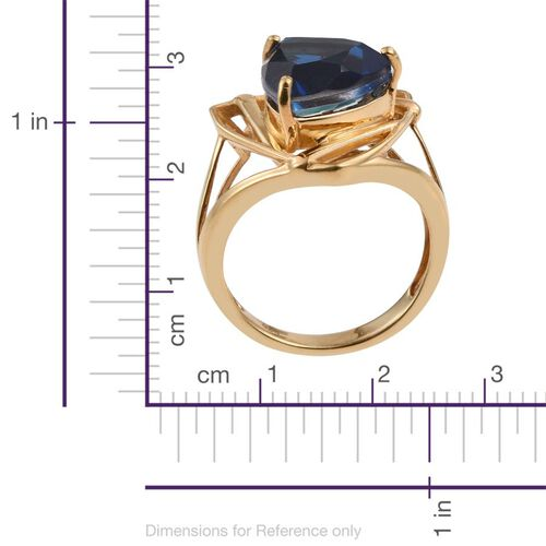 Ceylon Colour Quartz (Trl) Solitaire Ring in 14K Gold Overlay Sterling Silver 6.500 Ct. Silver wt. 5.09 Gms.