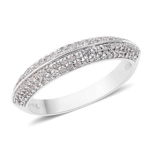 Isabella Liu Twilight Zircon Eternity Band Ring in Rhodium Plated Sterling Silver