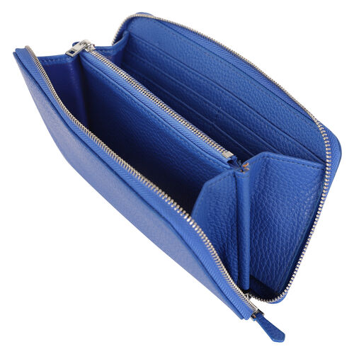 Kris Ana Single Zipper Purse - Cobalt Blue