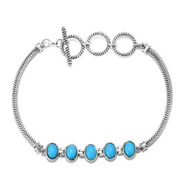 Tucson Special - Arizona Sleeping Beauty Turquoise (Ovl) Bracelet (Size 7 with 1 inch Extender) in S