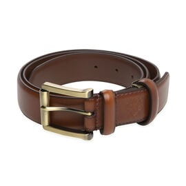 William Hunt - Traditional Buckle Leather Belt (Size 36 Inches) - Chestnut