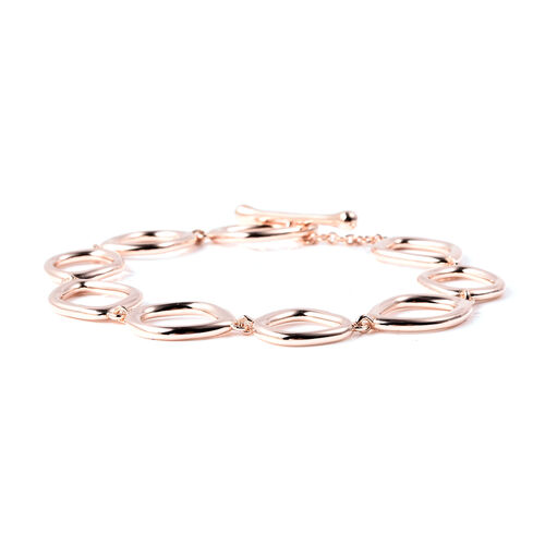 LucyQ Fluid Design Bracelet (Size 8) in Rose Gold Overlay Sterling Silver