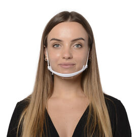 Set of 2 - Reusable Transparent Protective Face Shield (Size 14x10Cm)