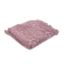100% Cotton Handmade Crochet Lace Throw (Size 180x130 Cm) - Purple