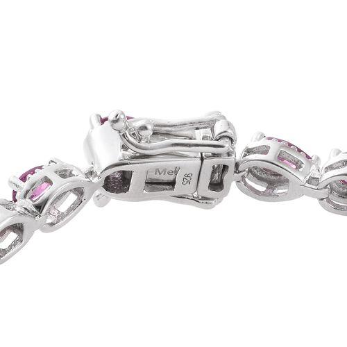 Rare Natural Purple Garnet (Pear) Bracelet (Size 7) in Platinum Overlay Sterling Silver 6.250 Ct.