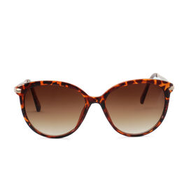 Designer Inspired Print Fashion Sunglasses - Brown Round