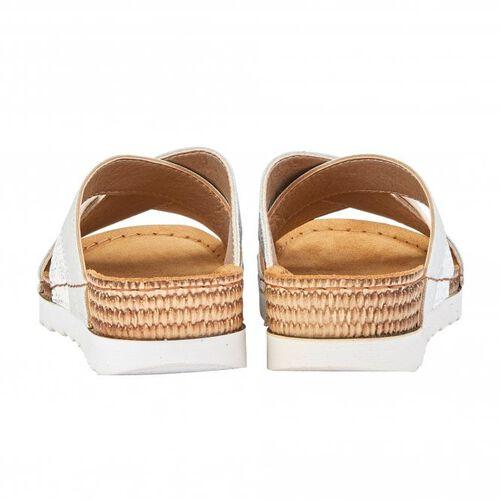 Lotus White Ravenna Mule Sandals (Size 5)