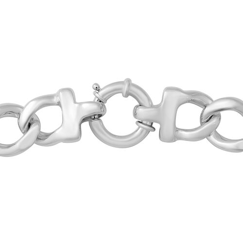 Sterling Silver Cuban Link Necklace (Size 19.5), Silver wt 57.08 Gms