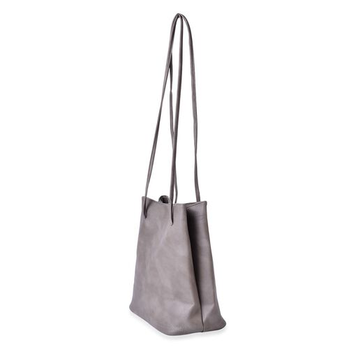 Designer Inspired Estella Grey Colour Large Size Tote Bag (Size 30x28x15 Cm)