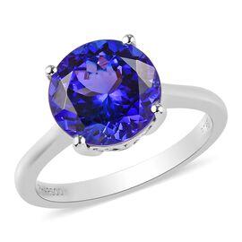 RHAPSODY 950 Platinum AAAA Tanzanite Solitaire Ring 3.50 Ct.