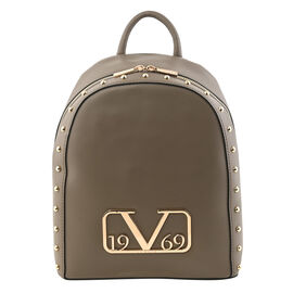 19V69 ITALIA by Alessandro Versace Backpack Bag with Zipper Closure (Size 38x10x30Cm) - Brown