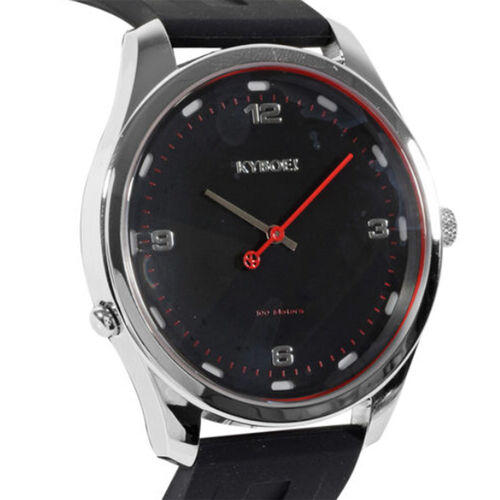 KYBOE Evolve Collection Slim 100M Water Resistant Watch - Black and Silver Tone