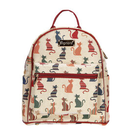 SIGNARE  - Tapestry Collection -Cheeky Cat Casual Backpack             (26x28x14 cms)