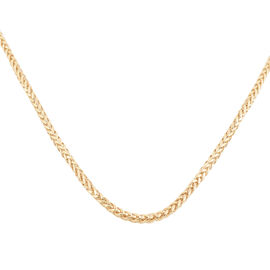 9K Yellow Gold Diamond Cut Triple Spiga Necklace  (Size 32), Gold wt 7.10 Gms