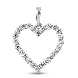 RHAPSODY 950 Platinum IGI Certified Diamond (VS/E-F) Open Heart Pendant 0.53 Ct