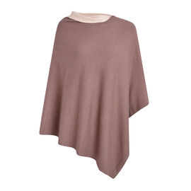 Kris Ana Contrast Taupe and Beige Poncho (60x75cm)