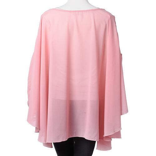 Designer Inspired- Pink Colour Top (Free Size with Lenght  80 Cm)