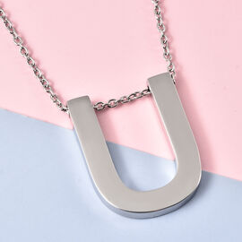 Initial U Necklace (Size - 20) in Stainless Steel
