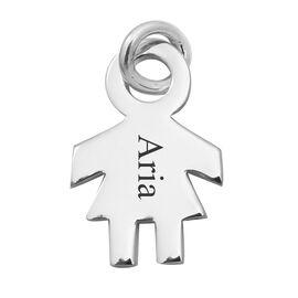Personalised Engravable Girl Pendant in Silver
