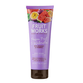 FruitWorks: Passion Fruit & Watermelon Body Scrub (With Rosehip & Vitamin E) - 238ml