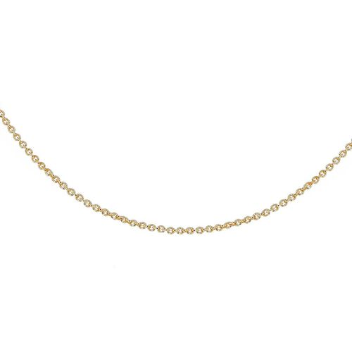 Yellow Gold Overlay Sterling Silver Rolo Chain (Size 16)