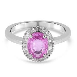 RHAPSODY 950 Platinum AAAA Pink Sapphire and Diamond (VS/E-F) Ring 2.44 Ct.