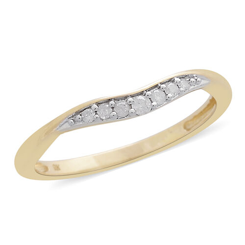 9K Yellow Gold 0.10 Carat Diamond (Rnd) Ring SGL Certified (I3/G-H)