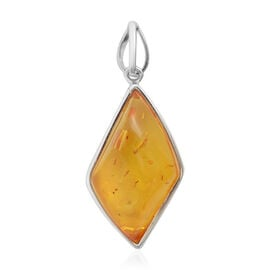 Baltic Amber Pendant in Sterling Silver, Silver wt 6.00 Gms