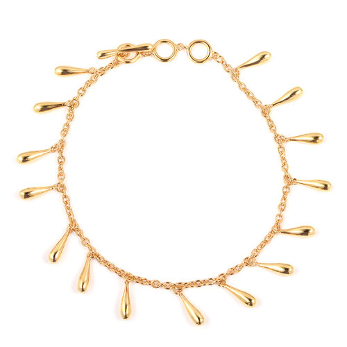 LucyQ Multi Drip Bracelet in Gold Plated Sterling Silver 10.90 Grams 7, 7.5 and 8 Inch