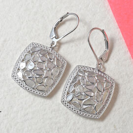 Artisan Crafted Polki Diamond Earrings in Sterling Silver 1.50 Ct, Silver wt 5.60 Gms
