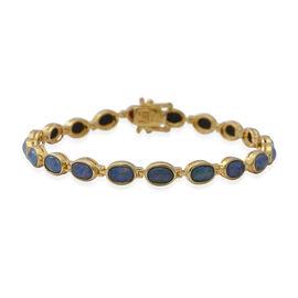Boulder Opal Bracelet (Size 7) in Yellow Gold Overlay Sterling Silver, Sliver wt. 7.90 Gms