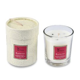 Home Decor - Roseberries Scented Glass Candle with Tsavorite Carat wt 20.00 ct. (Size 8.2x8.2x9.4 Cm