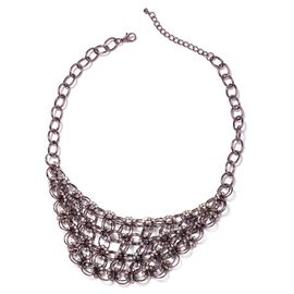 White Austrian Crystal Collar Necklace in Coffee Colour Plating 20 Inch