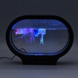 Midnight Mega Deal - Jelly Fish Lamp with LED Light (Size 31x23x8Cm) - Black