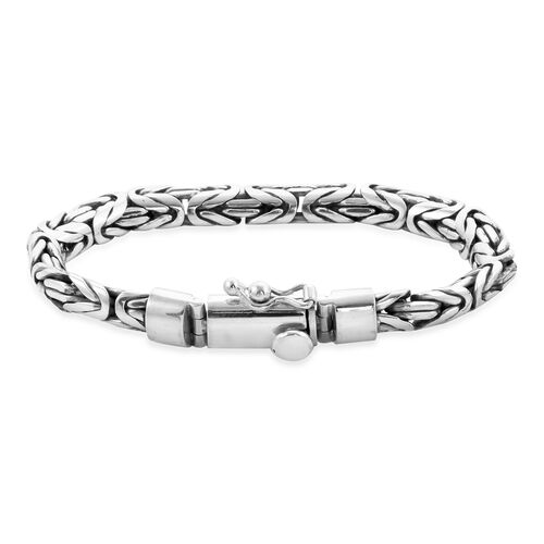 Royal Bali Collection - Sterling Silver Borobudur Bracelet (Size 7.5), Silver wt. 43.60 Gms