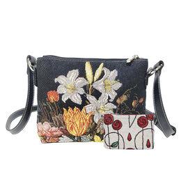 Signare Tapestry A Still Life In A Van-Li Vase Crossbody Bag
