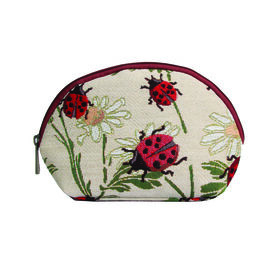 SIGNARE - Tapastry Ladybird Cosmetic Bag (21 x 13 x 7 cms )