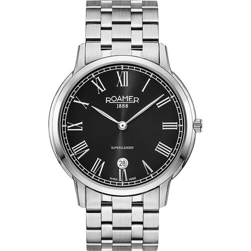 ROAMER Swiss Movement Water Resistant Watch with Stainless Steel Chain Strap