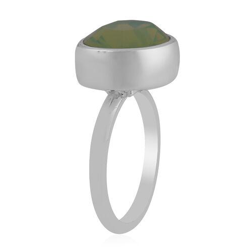 Swarovski Crystal Ring in Silver Tone
