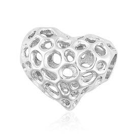 RACHEL GALLEY Rhodium Plated Sterling Silver Lattice Heart Pendant