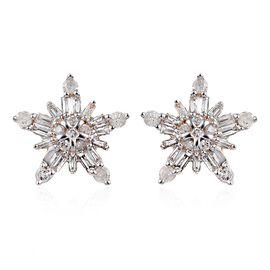 0.33 Ct Diamond Snowflake Stud Earrings in 9K Yellow Gold