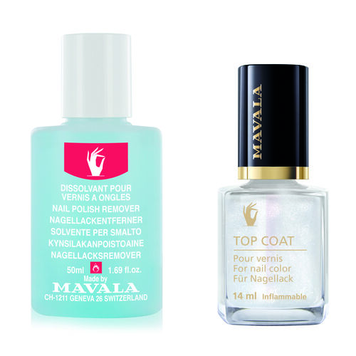 Mavala: Star Top Coat (Silver) - 14ml (With Nail Polish Remover - 50ml)
