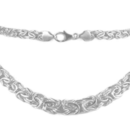 9K White Gold Graduated Byzantine Necklace (Size 20), Gold Wt. 14.61 Gms.