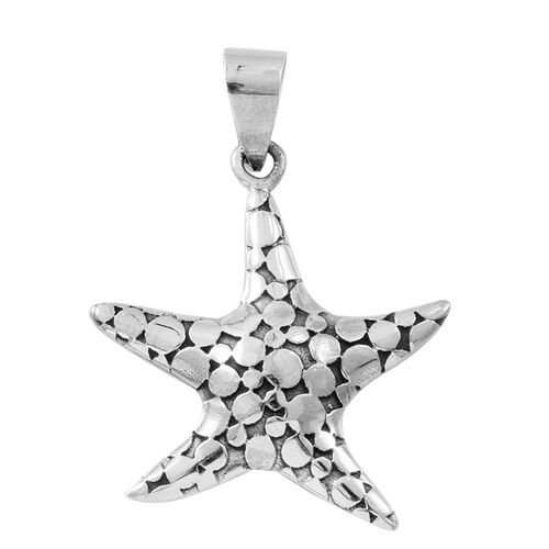 Atlantis Collection-Sterling Silver Pebble Star Pendant, Silver wt. 6.47 Gms.