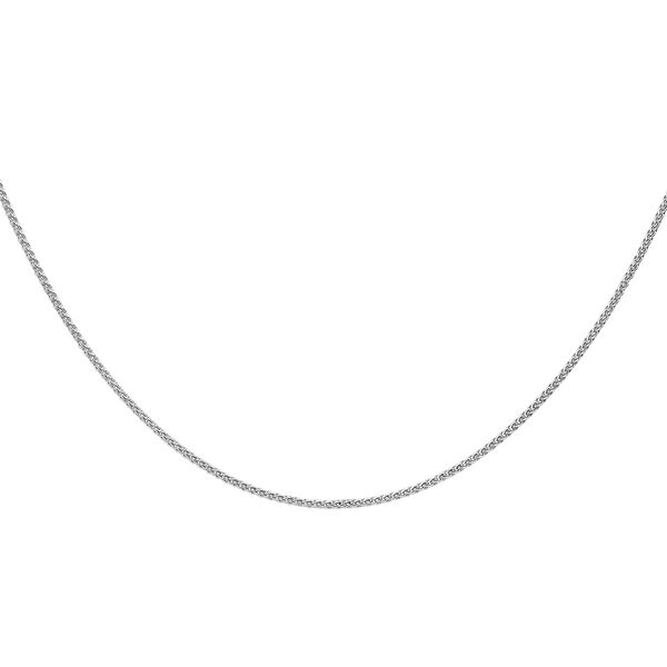 Sterling Silver Adjustable Spiga Slider Chain (Size 18) with Spring Ring Clasp