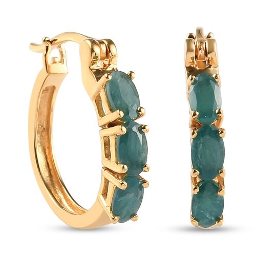 Grandidierite Earring in 14K Gold Overlay Sterling Silver 0.27 ct  1.250  Ct.