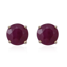 1.25 Ct AA Burmese Ruby Stud Earrings in 9K Gold (with Push Back)