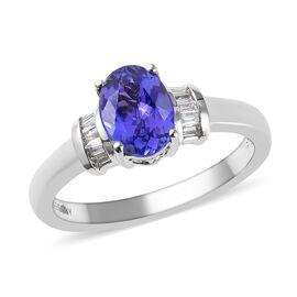 RHAPSODY 950 Platinum AAAA Tanzanite (Ovl), Diamond (VS/E-F) Ring 1.15 Ct.